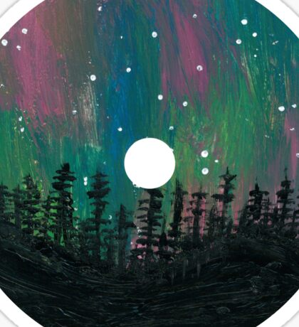 Aurora Borealis CD Design Sticker