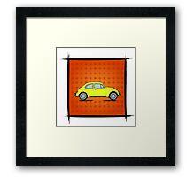 Beetle yellow Framed Print