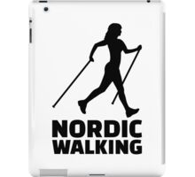 Nordic walking iPad Case/Skin