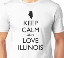 KEEP CALM and LOVE ILLINOIS Unisex T-Shirt