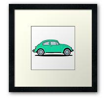 Beetle green Framed Print