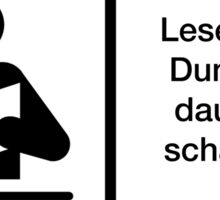 Warnung Deutsch Lesen Dummheit Schädigen Sticker