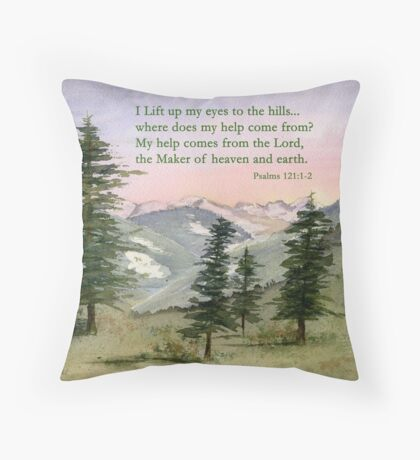 Heavenly Help -  Psalm 121:1-2 Throw Pillow