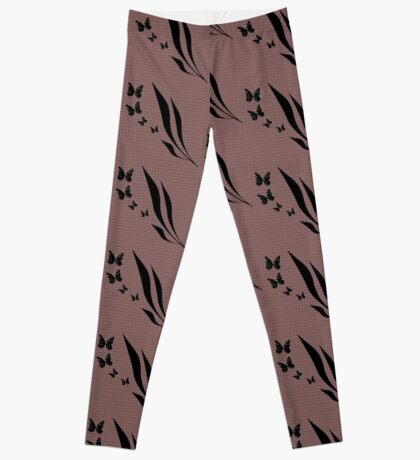 Black and gold butterfly design Leggings
