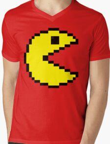 Pac Man Mens V-Neck T-Shirt