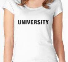 University (Black text) Women's Fitted Scoop T-Shirt