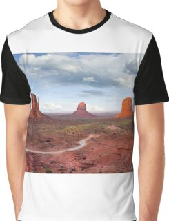 The Mittens and Merrick Butte at Sunset Graphic T-Shirt