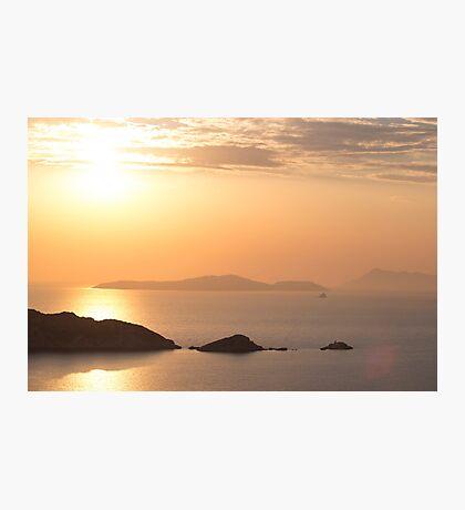 Amazing Sunset - Travel Photography Photographic Print