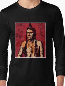 Ring Necked Crane (Flathead Nation) Long Sleeve T-Shirt