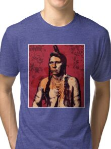 Ring Necked Crane (Flathead Nation) Tri-blend T-Shirt