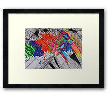 Color Blast Framed Print
