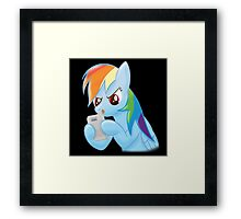 rainbow dash gaming Framed Print