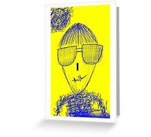 defamation man Greeting Card