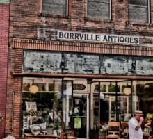 """""""Burrville Antiques"""" ... with a matted and framed presentation, for prints and products Sticker"""