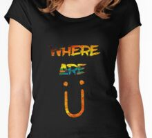 Where Are U yellow Women's Fitted Scoop T-Shirt