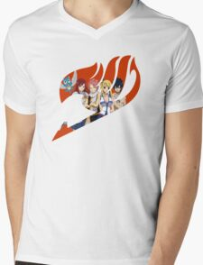 Fairy Tail Crew Red Mens V-Neck T-Shirt