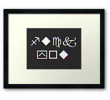 Mysterious Wingdings Shirt (It's an Insult No One Will Know...) Framed Print