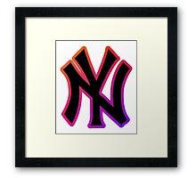 NY Fade Outline Framed Print