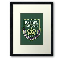Barden University Framed Print