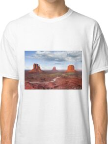 The Mittens and Merrick Butte at Sunset Classic T-Shirt