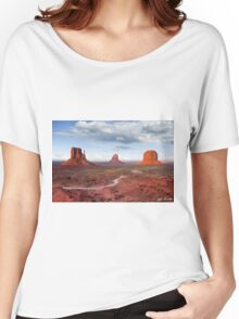 The Mittens and Merrick Butte at Sunset Women's Relaxed Fit T-Shirt