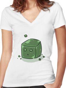 Slime Women's Fitted V-Neck T-Shirt