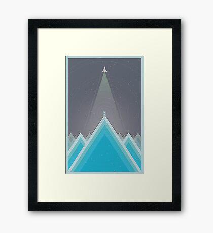 Space Man Blue  Framed Print