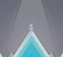 Space Man Blue  Sticker