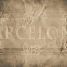Barcelona with Frame - Sepia by Madeleine Forsberg