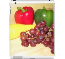 Fruit and Veggie Collage One iPad Case/Skin