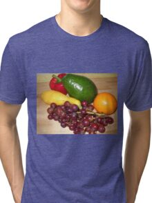Fruit and Veggie Collage 2 Tri-blend T-Shirt
