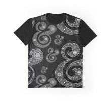 Ampersand Typography in Paisley Style Graphic T-Shirt