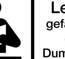 Warnung Deutsch Lesen Gefährdet Dummheit Sticker