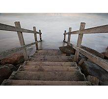 stairs to the sea Photographic Print