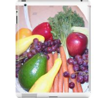 Fruit and Veggie Collage 4 iPad Case/Skin