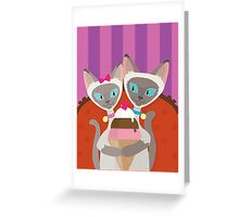 Siamese Cats Ice Cream Greeting Card