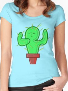CACTI CHRIS Women's Fitted Scoop T-Shirt