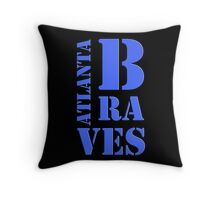 Atlanta Braves Typography Throw Pillow