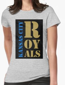 Kansas City Royals typography Womens Fitted T-Shirt
