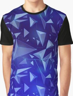 Blue Space Map Graphic T-Shirt