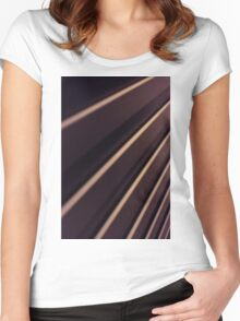 Spiral Lines : abstract Women's Fitted Scoop T-Shirt