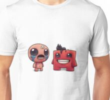 Isaac and Super Meat Boy Unisex T-Shirt