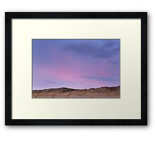 sunrise over the dunes Framed Print