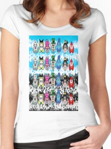 Alice in wonder land emoji Women's Fitted Scoop T-Shirt