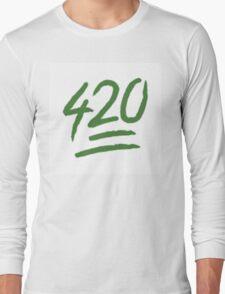 420 EMOJI Long Sleeve T-Shirt