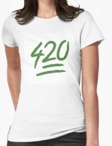 420 EMOJI Womens Fitted T-Shirt