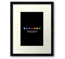 Undertale - You are Filled with Determination. Framed Print