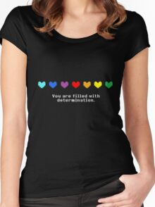 Undertale - You are Filled with Determination. Women's Fitted Scoop T-Shirt