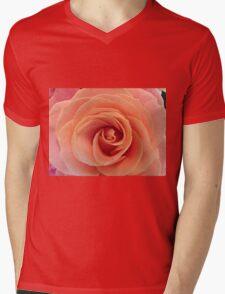Blush Rose Mens V-Neck T-Shirt