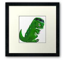 Dino camper with no background Framed Print